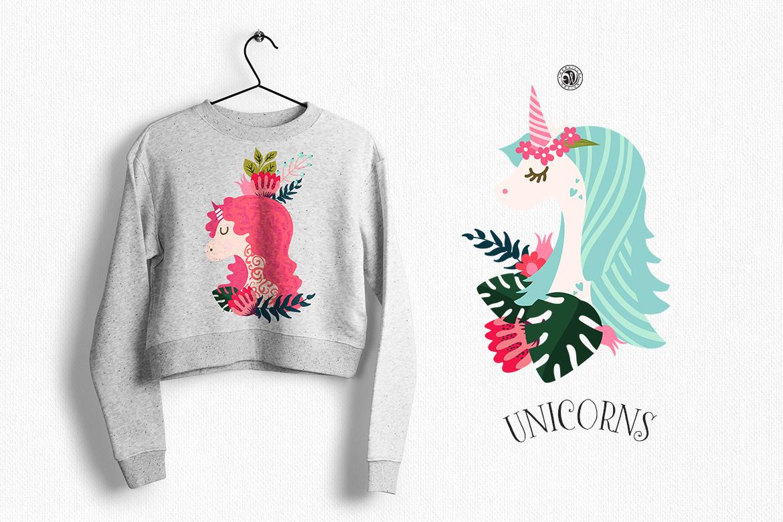 Unicorns - illustrations and patterns example image 5