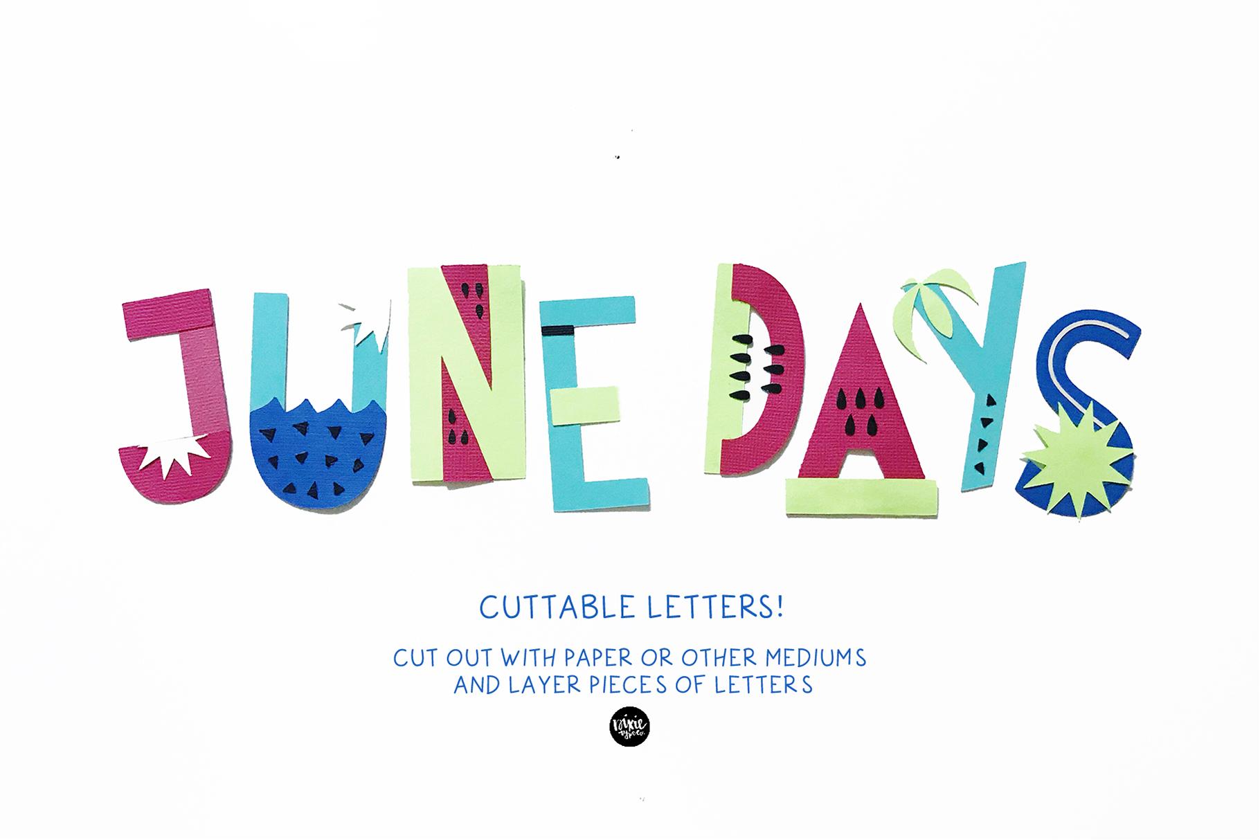 JUNE DAYS OpenType SVG otf Font example image 6