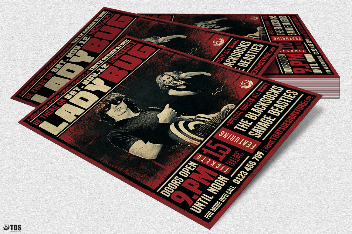 Rock Concert Flyer Template V1 example image 4