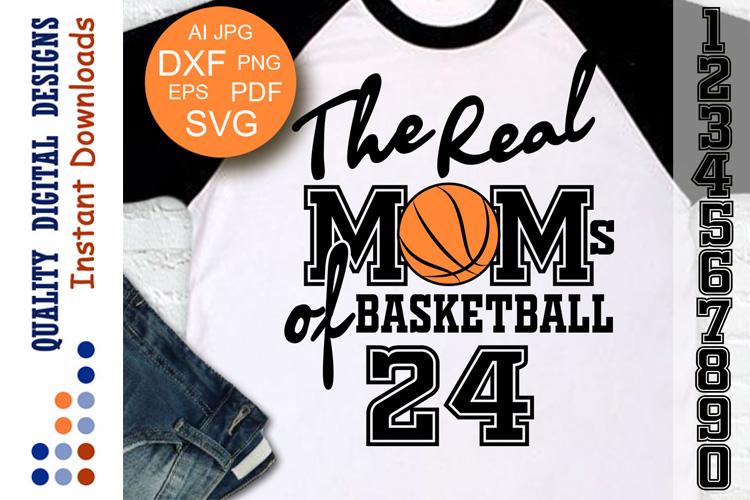 Basketball svg The Real Moms of Basketball example image 1