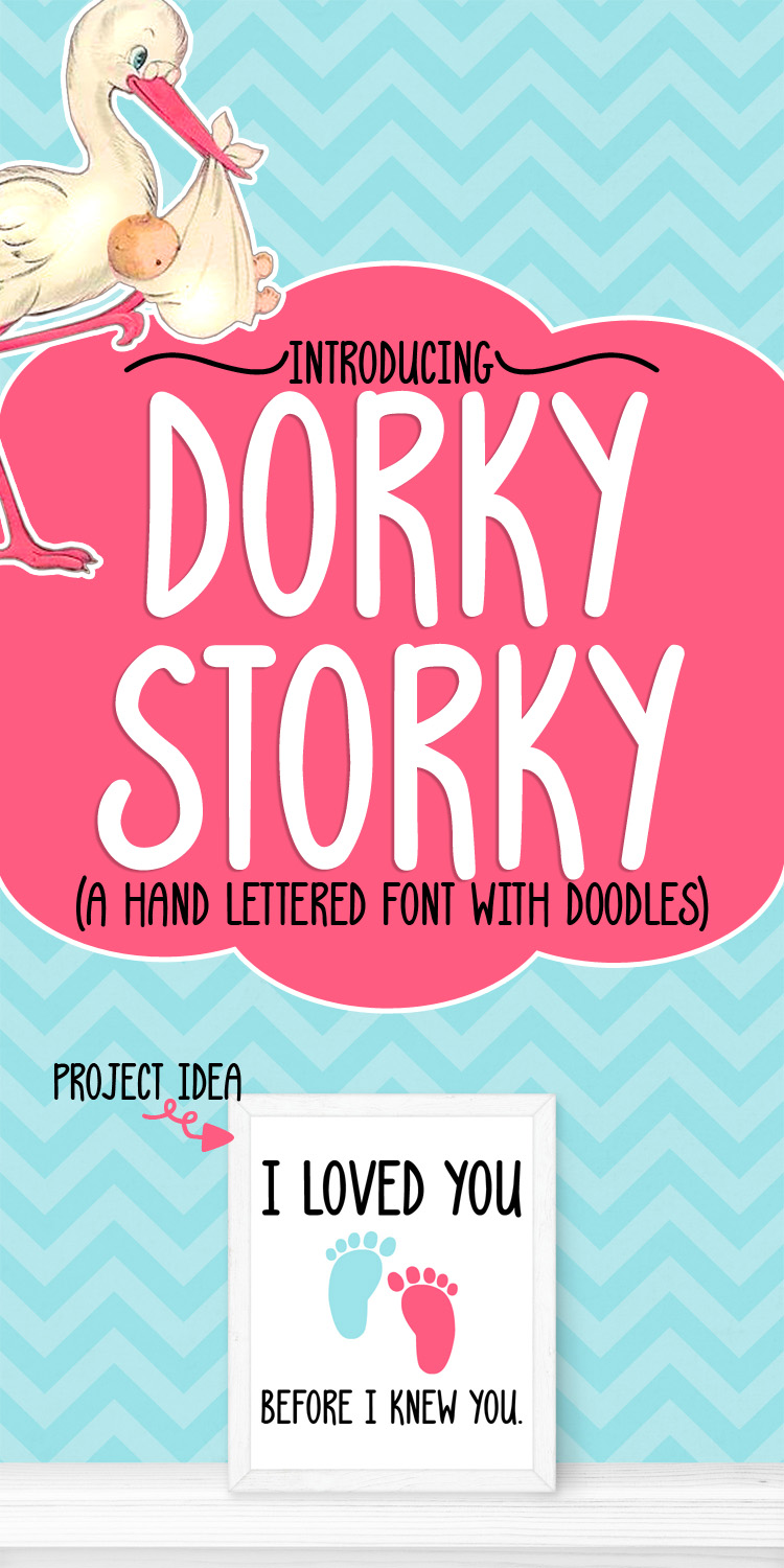 Dorky Storky - A Smooth Hand Lettered Font w/ Doodles by DWS example image 11