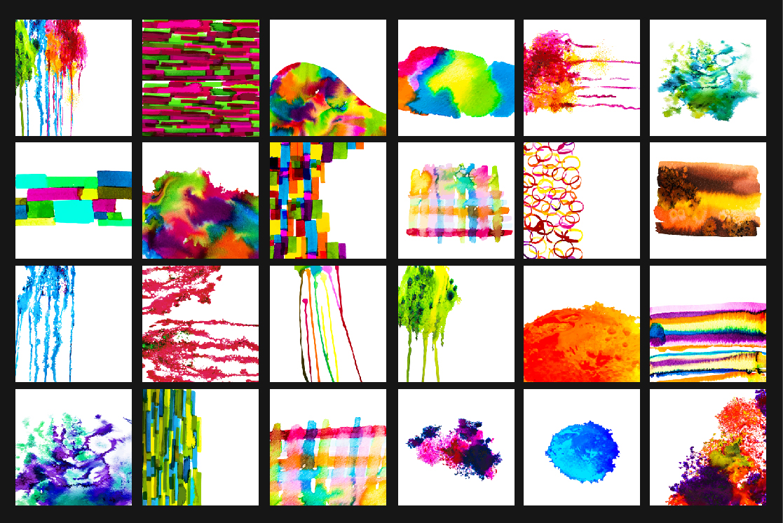 34 Watercolor vector set background. example image 2