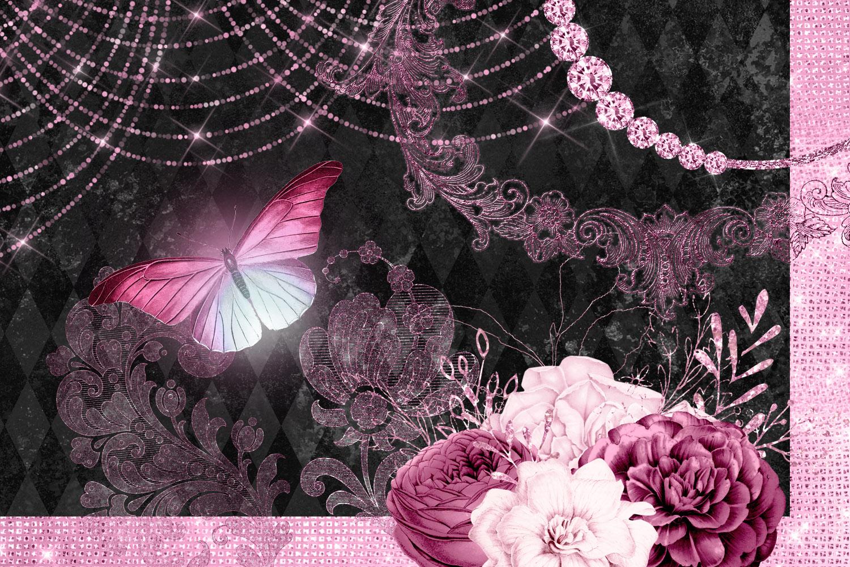 Pink Masquerade Digital Scrapbooking Kit example image 2