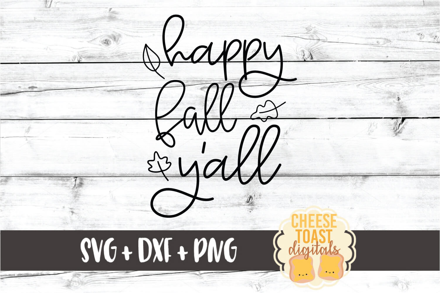 Happy Fall Y'all - Fall Sign SVG PNG DXF Cut Files example image 2