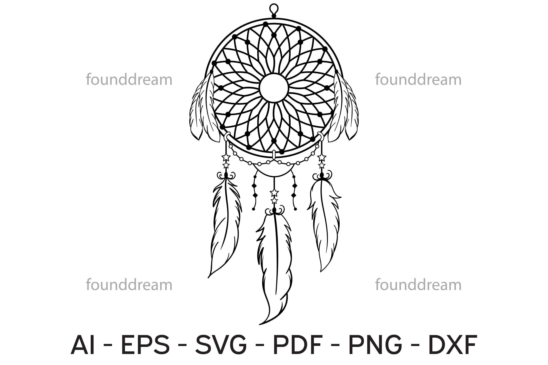 Dream Catcher Art | SVG, vector files example image 4