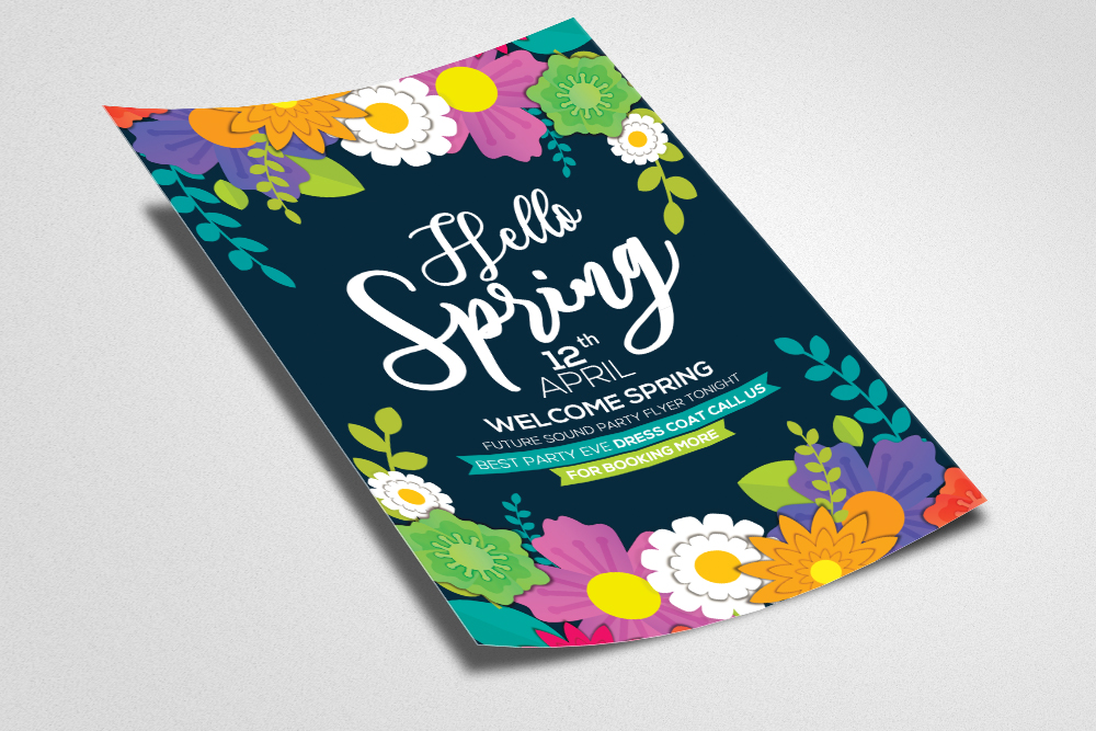 Coming Soon Spring Flyer Template example image 2