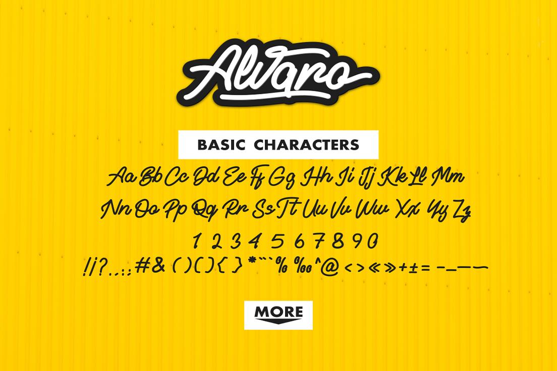 Alvaro - Stylistic Monoline example image 3