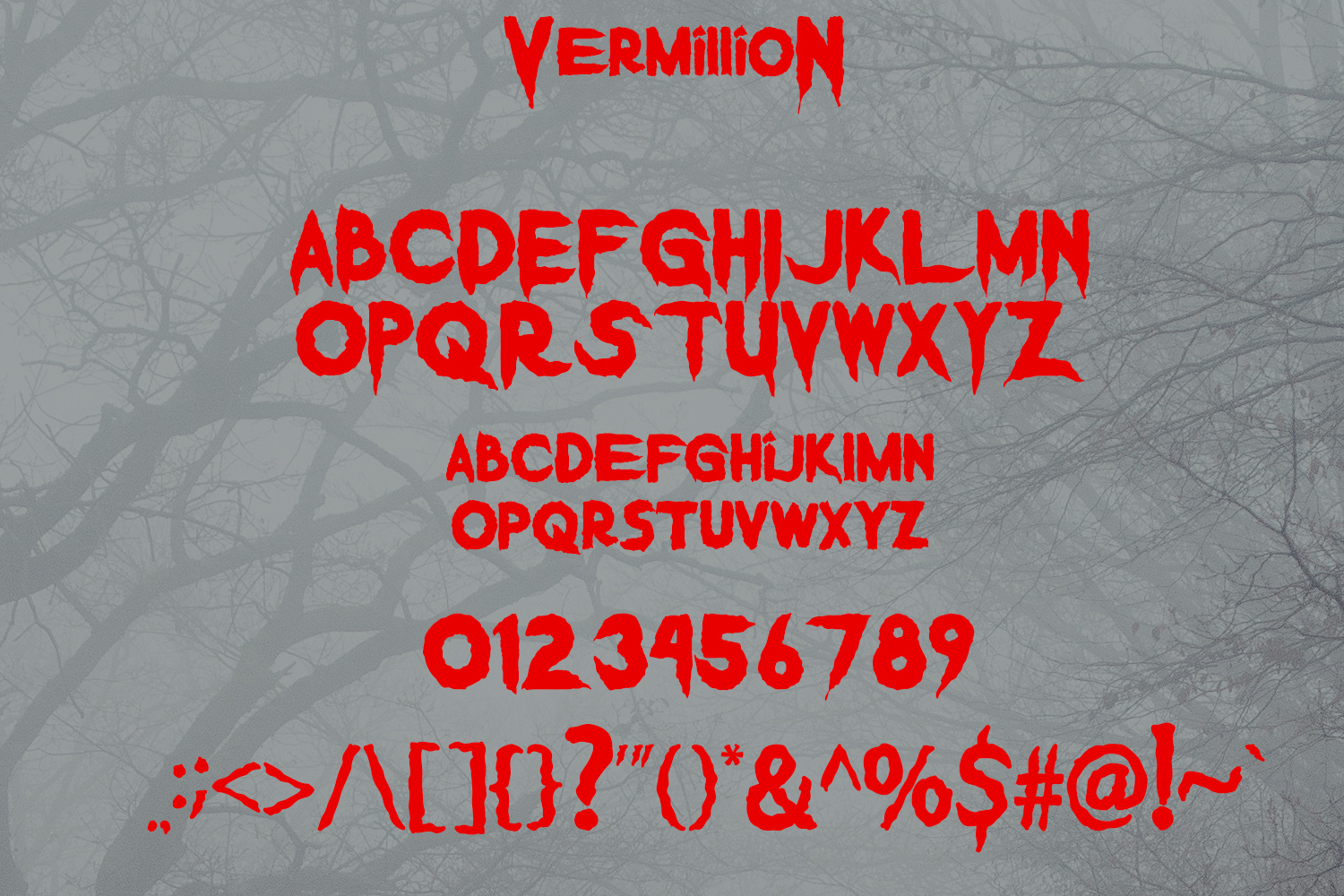 Vermillion Display Font example image 6