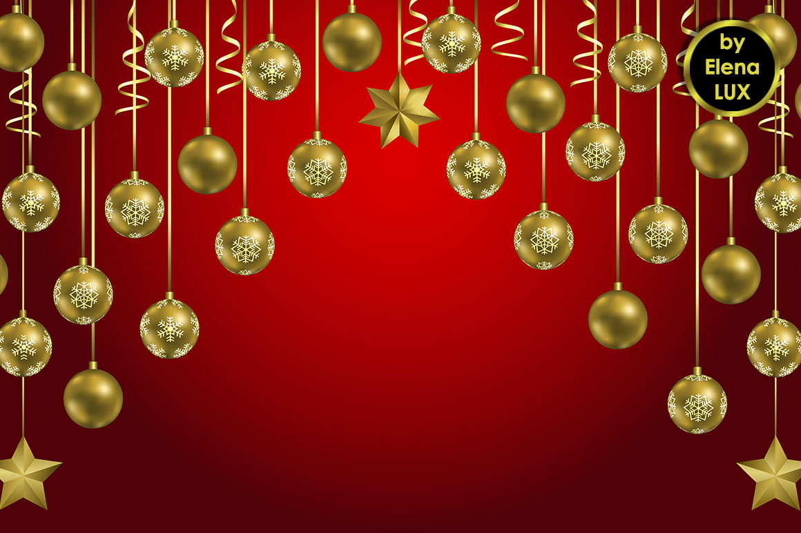 Christmas and New Year Seamless Set example image 2
