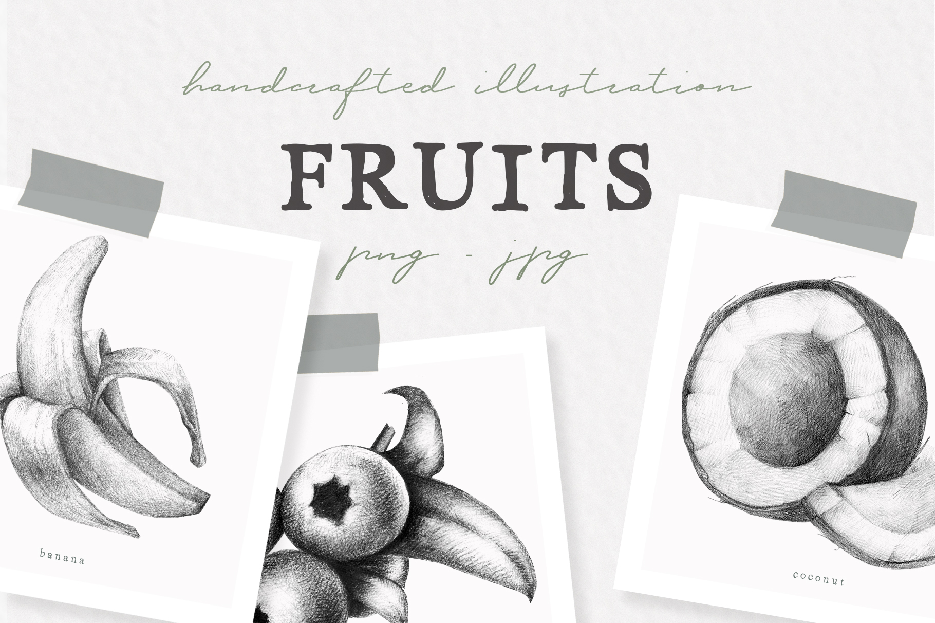 Hand drawn Fruit Collection example image 1