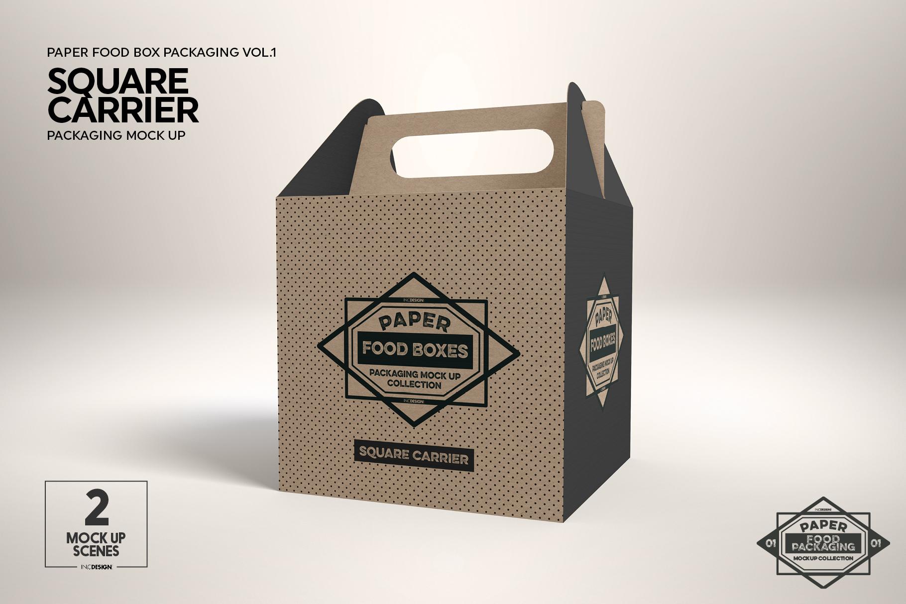 VOL.1 Food Box Packaging MockUps example image 4