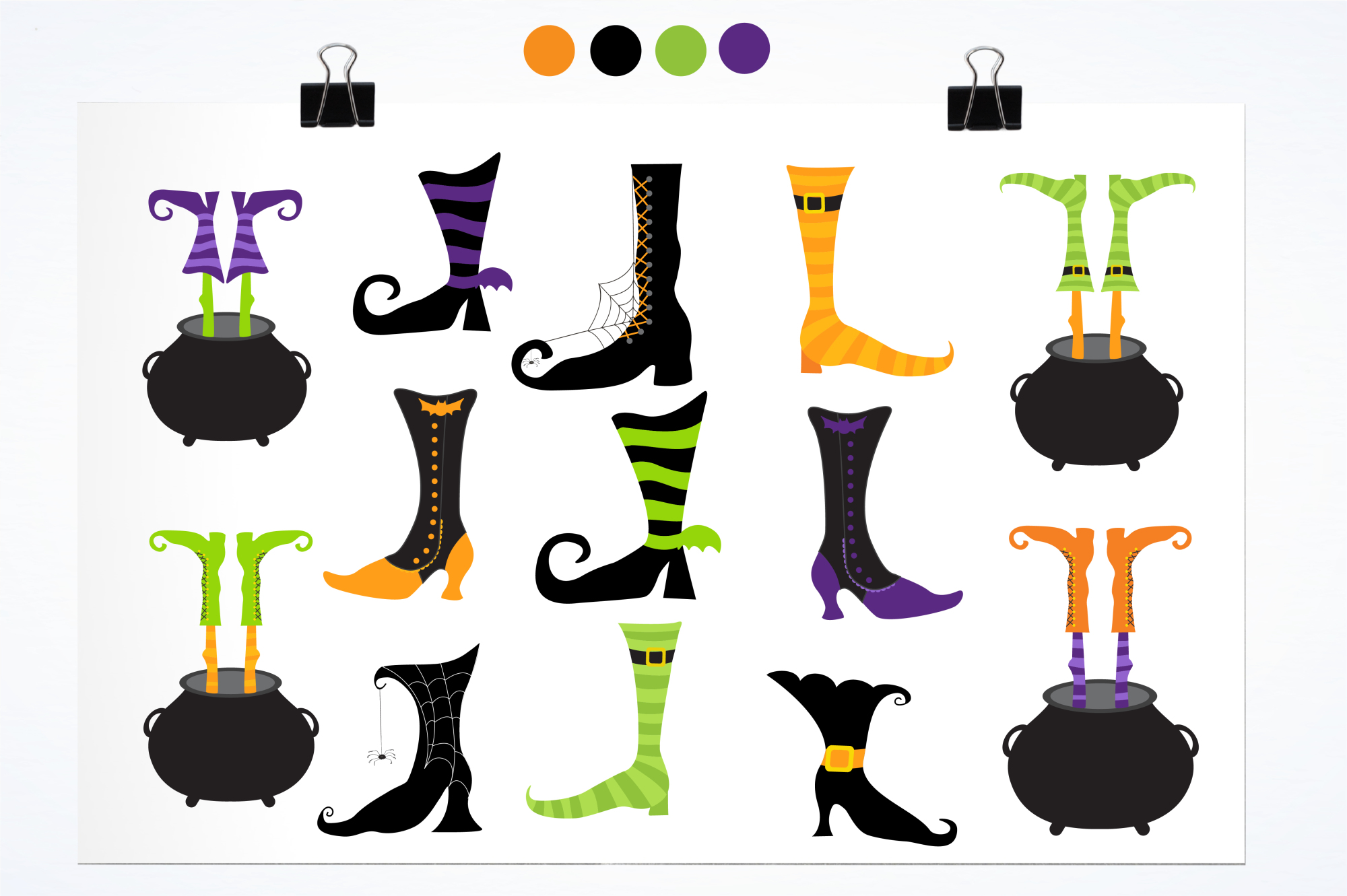 Witch Feet graphics and illustrations example image 2