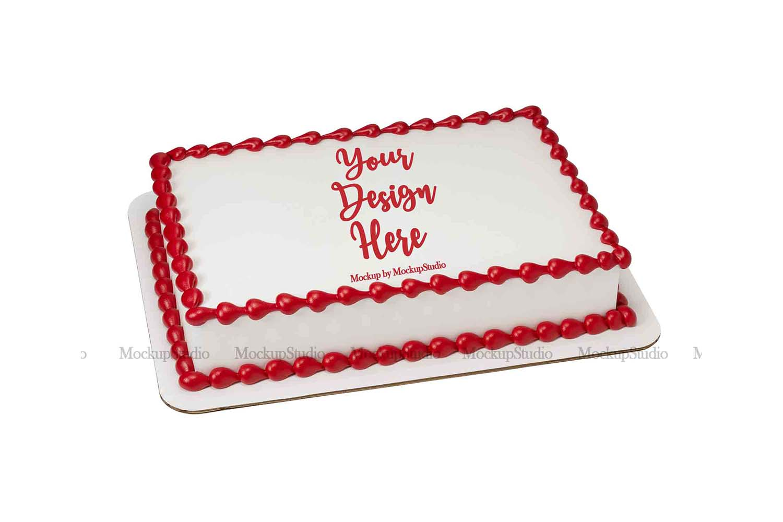 Sheet Cake Mockup Bundle, Edible Cake Print Mock Up Display example image 5