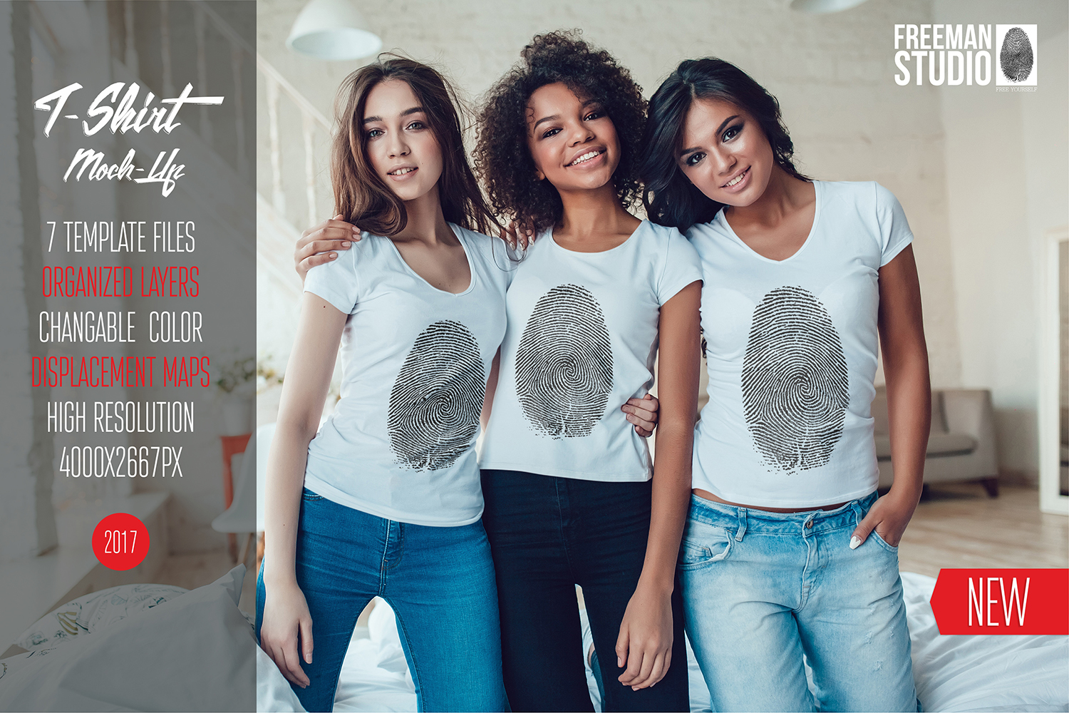 Women's T-Shirts Mock-Up Vol.1 2017 example image 1