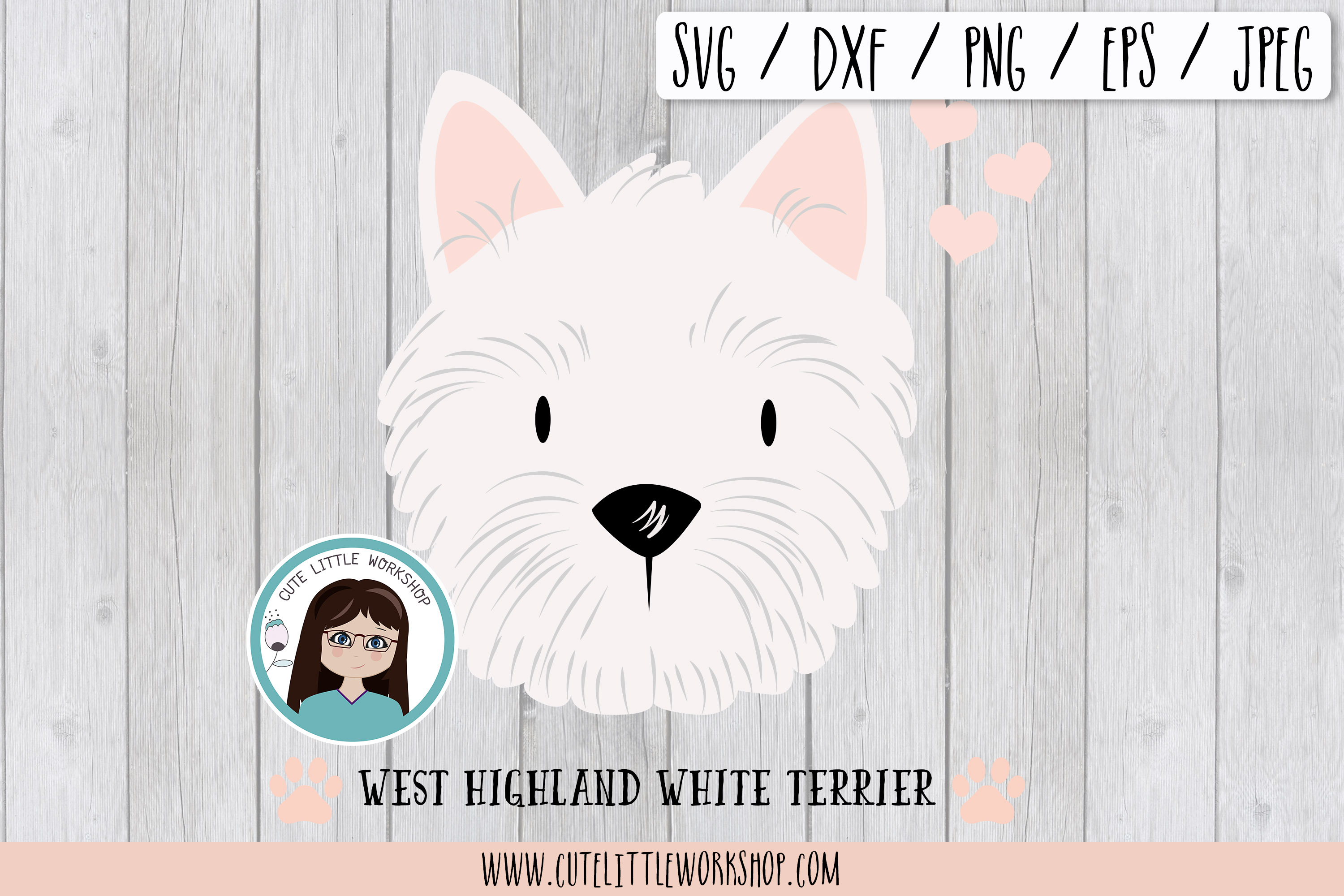 West Highland White Terrier svg, dxf, png, eps example image 1