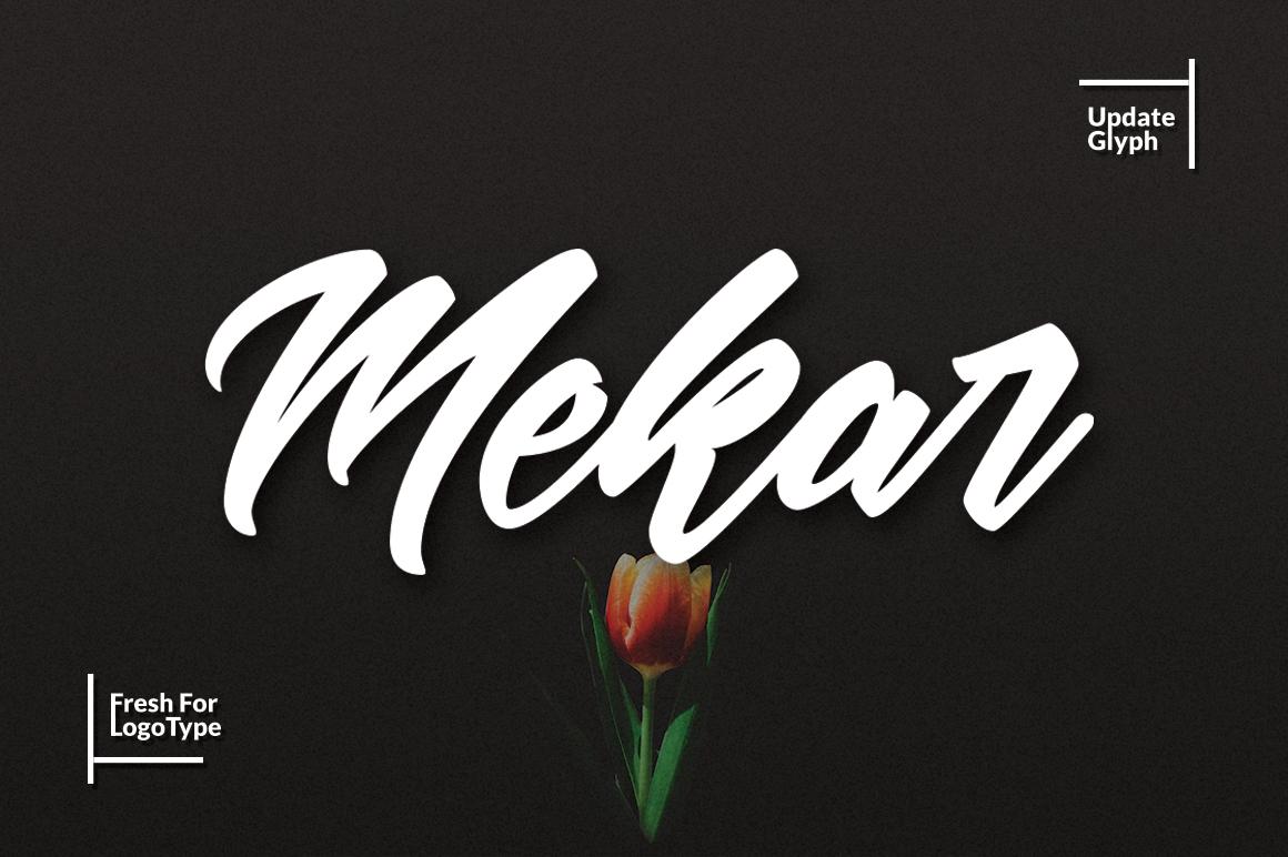 Mekar Script (Update) example image 1