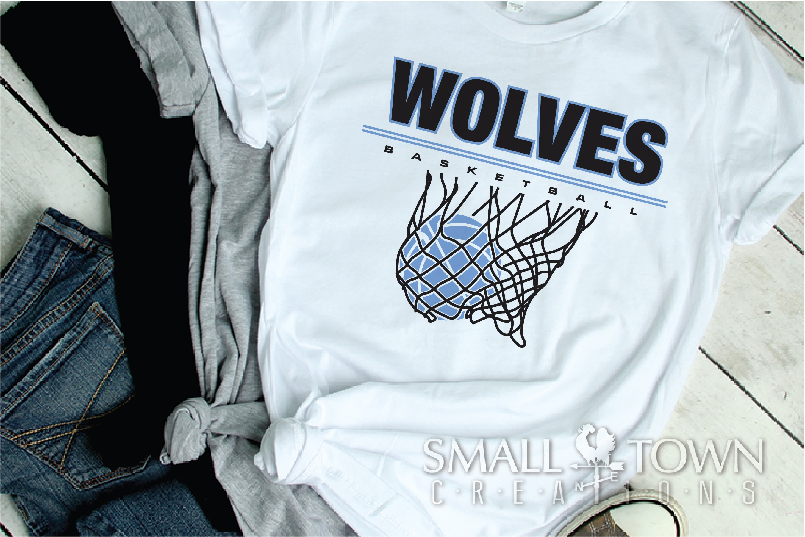 Wolves Basketball, Sport ball, team logo, PRINT, CUT, DESIGN example image 2