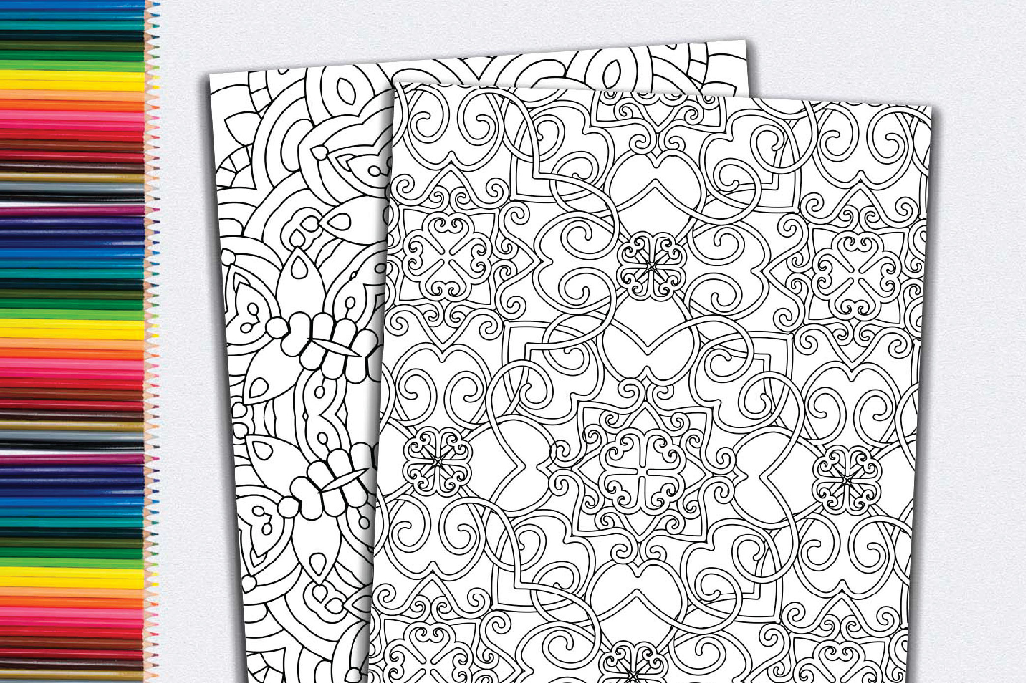 50 Geometric Coloring Pages example image 12