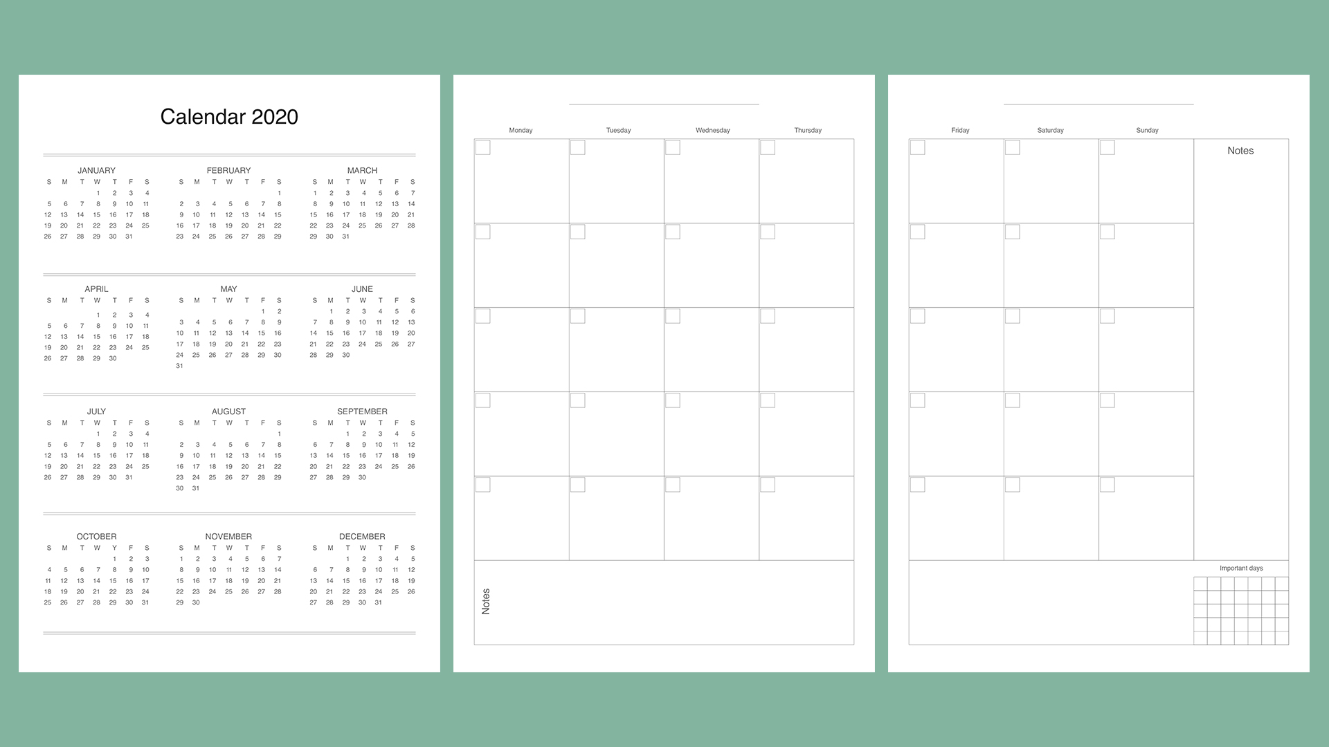 Planner kit vol.4. Universal design example image 5