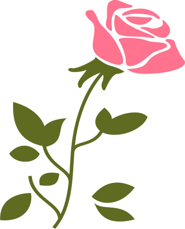 Rose svg - Rose svg files - Rose clipart - Rose digital- files download svg, png, eps, jpg  example image 5