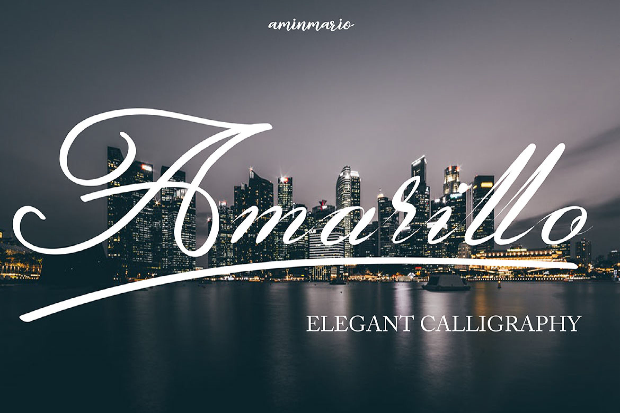 Amarillo | Elegant Calligraphy example image 1