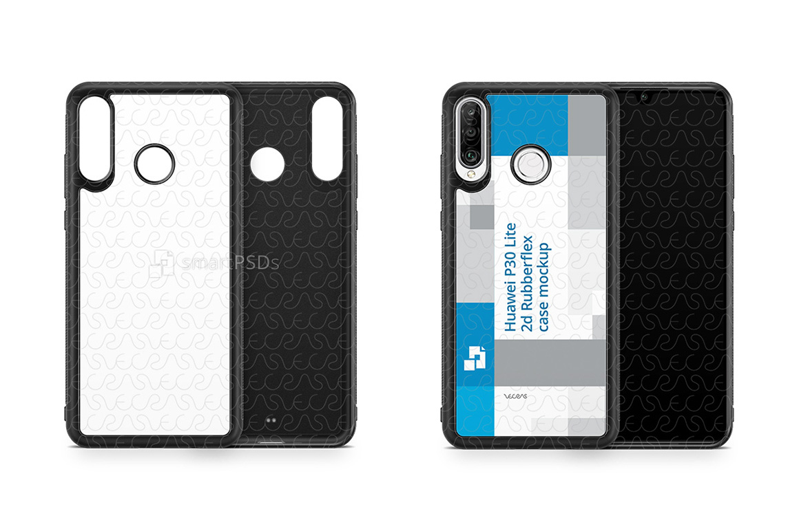 Huawei P30 Lite 2d RubberFlex Case Design Mockup 2019 example image 1