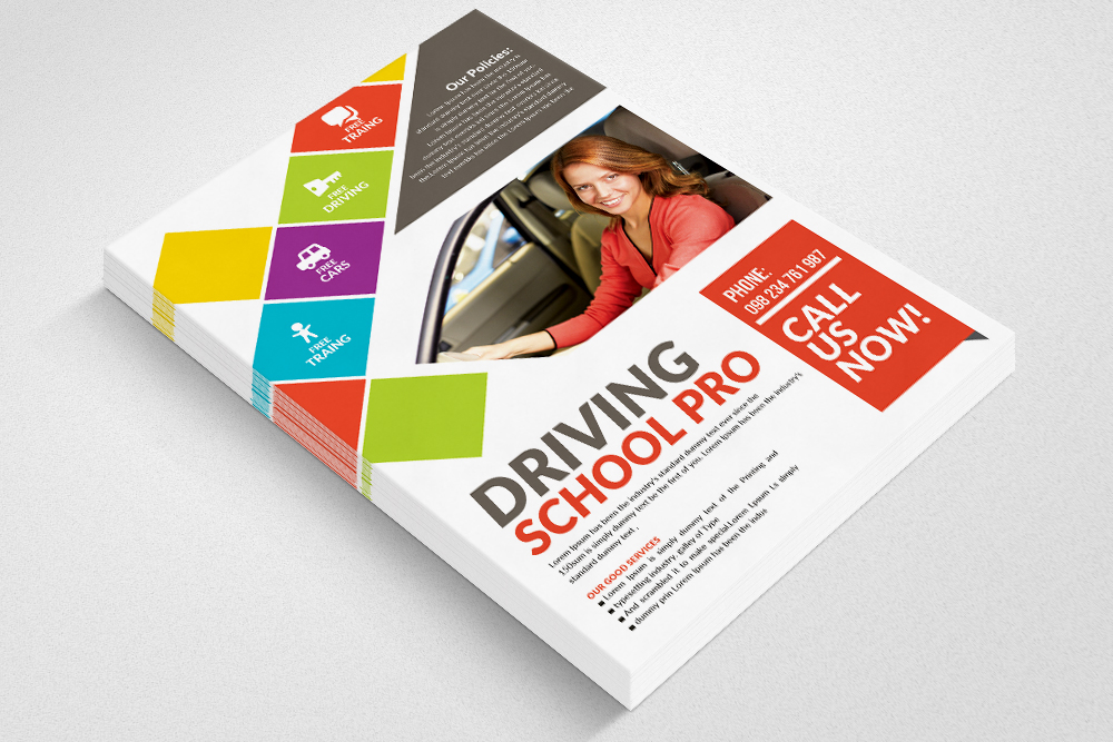 Driving Learning School Flyer  example image 2