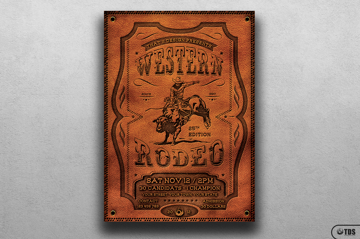 Western Rodeo Flyer Template V1 example image 1