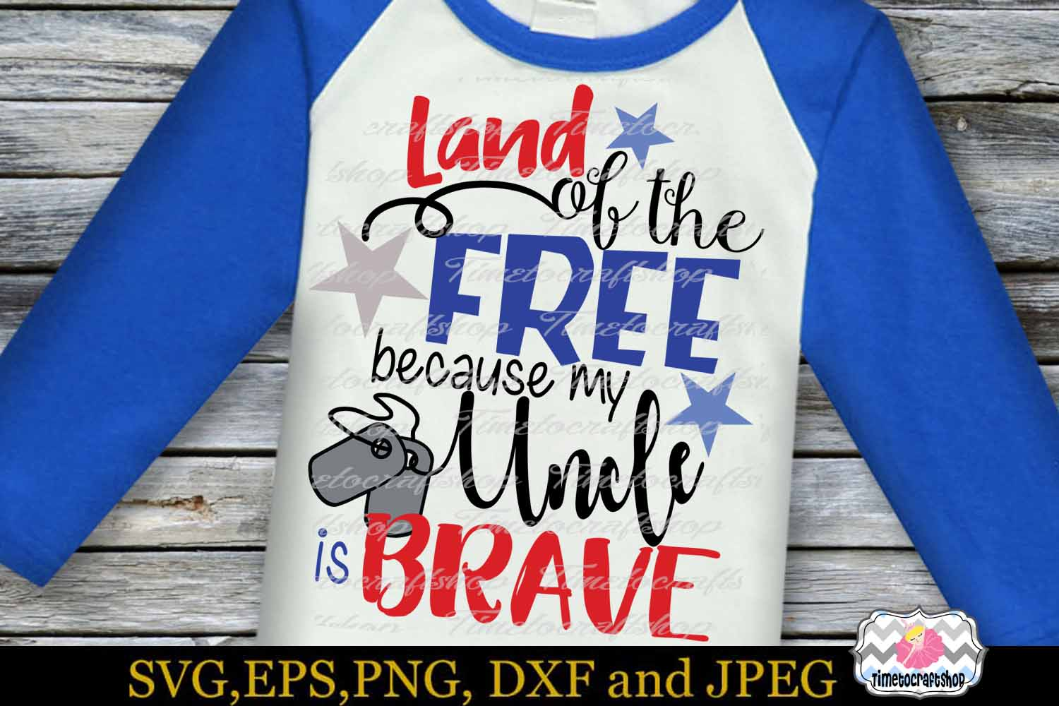SVG, Dxf, Png Land of the Free Because of the Brave Bundle example image 3
