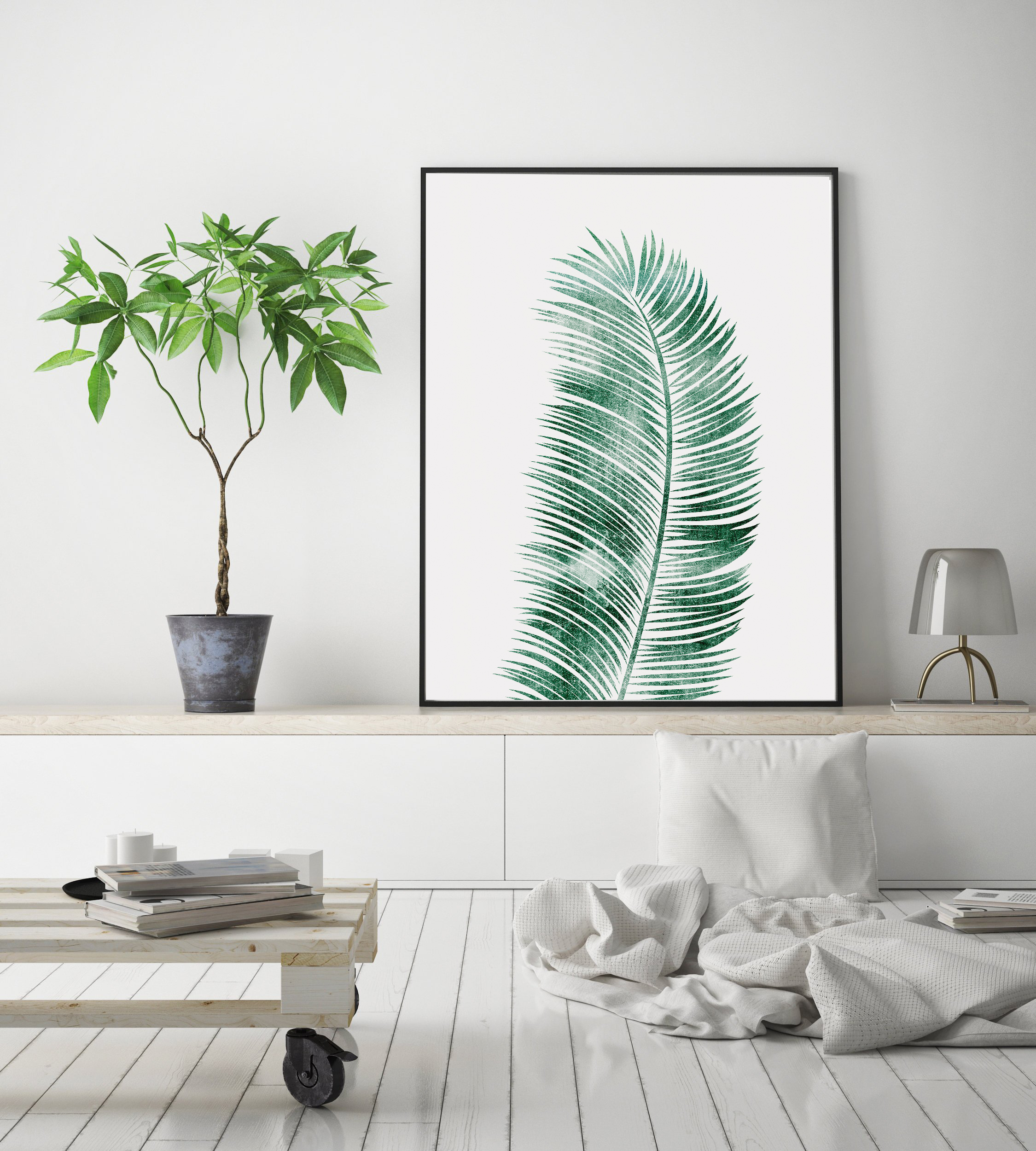 Tropical Leaf Print, Green Leaf Print, Palm Leaf Decor example image 3