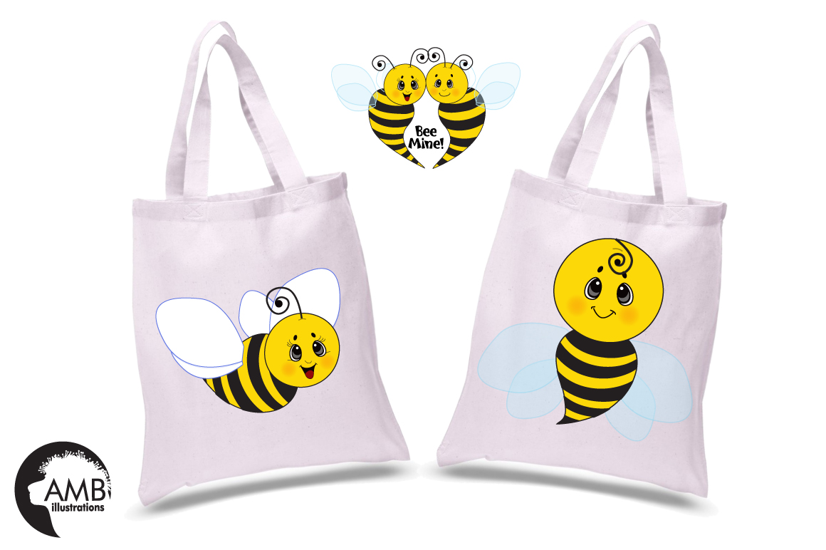 Bumble bee cliparts, graphics, illustrations AMB-921 example image 5