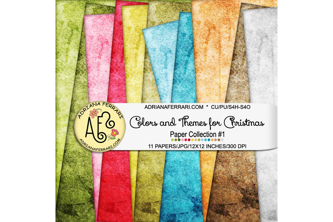 Colors and Themes for Christmas Papers 1 example image 1