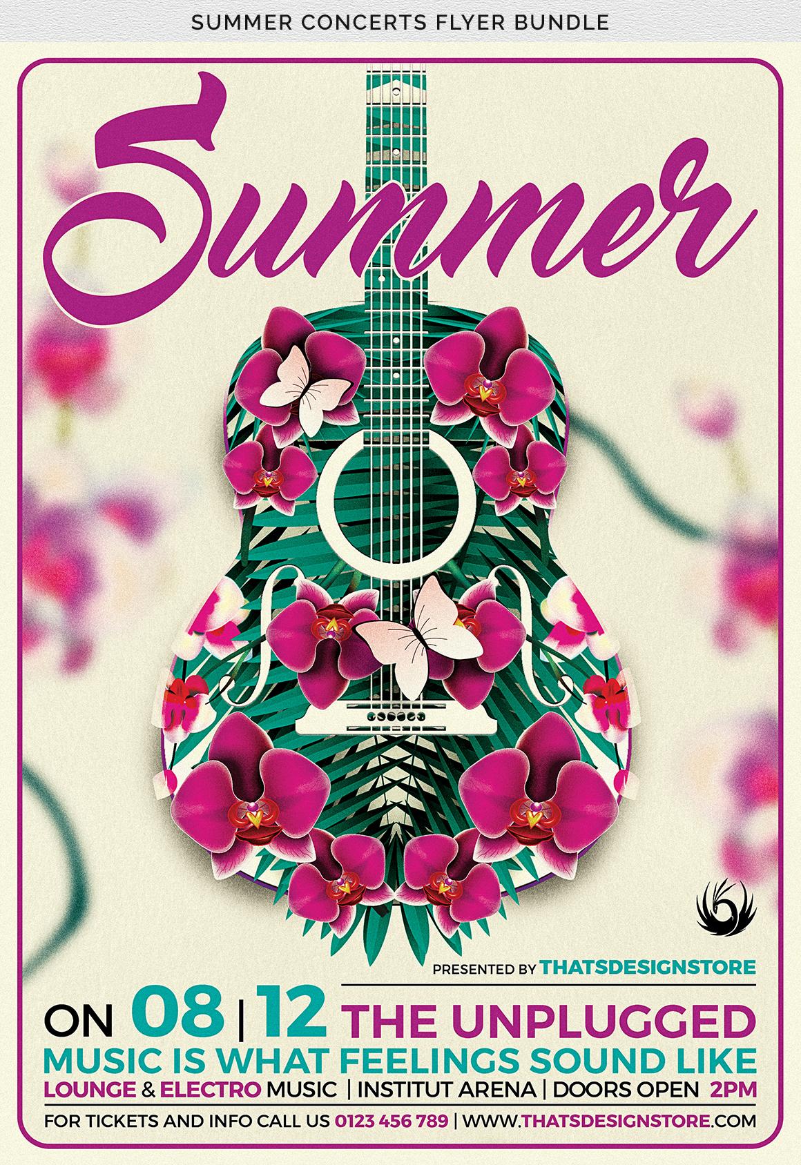 Summer Concerts Flyer Bundle example image 10