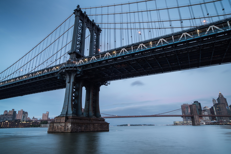Manhattan bridge during sunrise example image 1