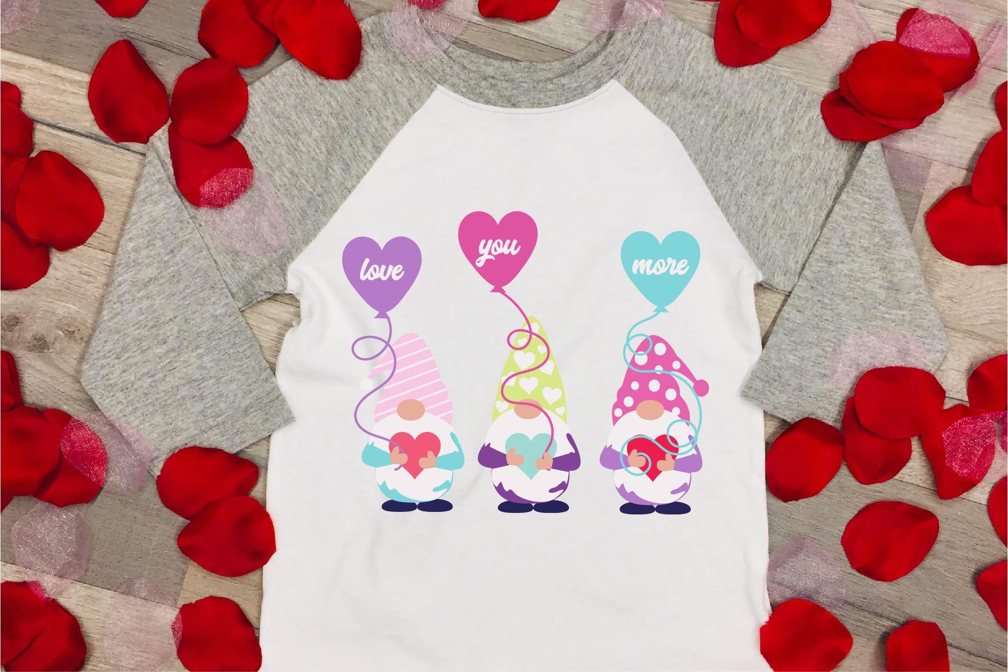 Valentine's Day SVG Valentine Gnome Bundle Gnome Sublimation example image 2