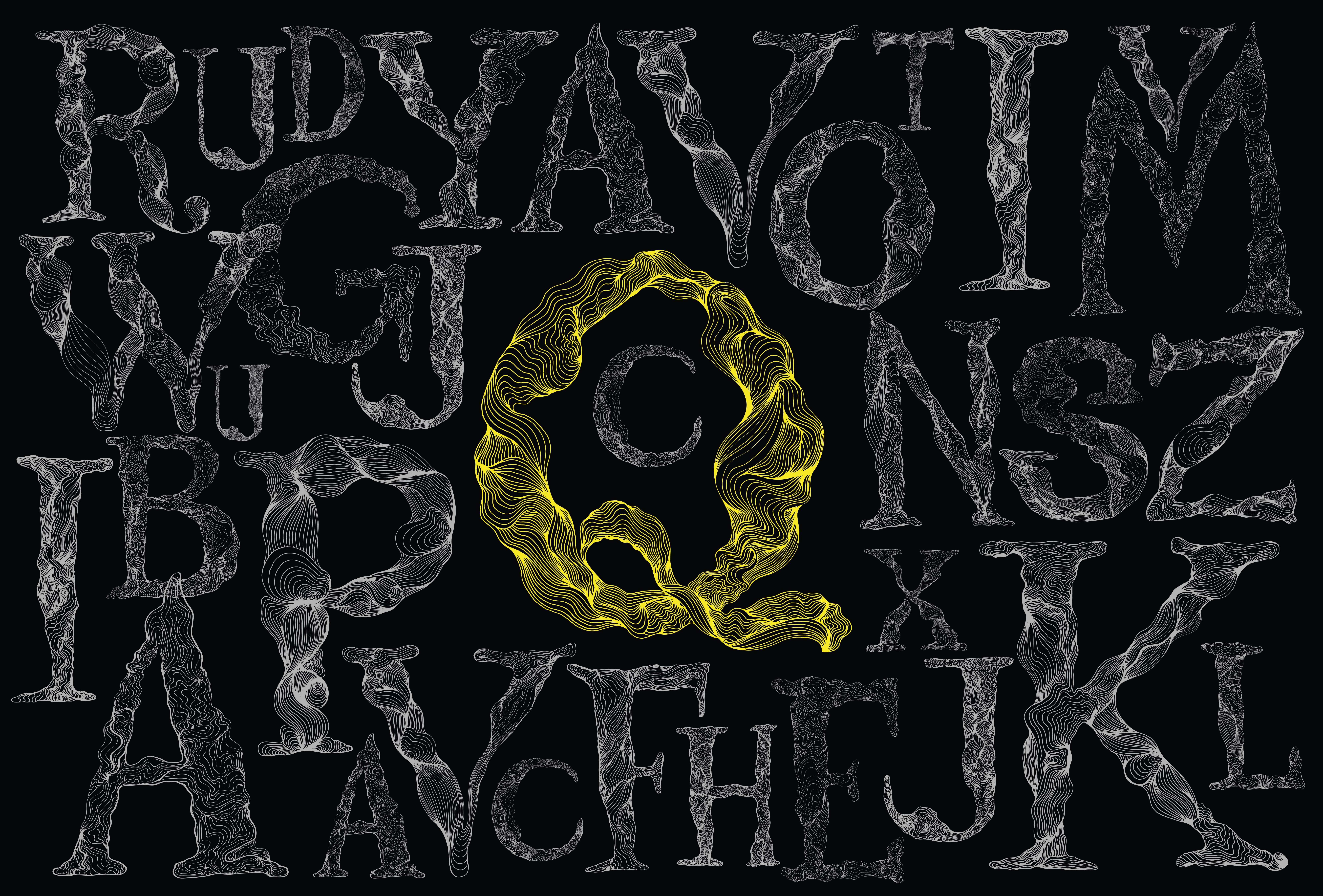 Manchuria, A-Z Unique Graphic Letter example image 9