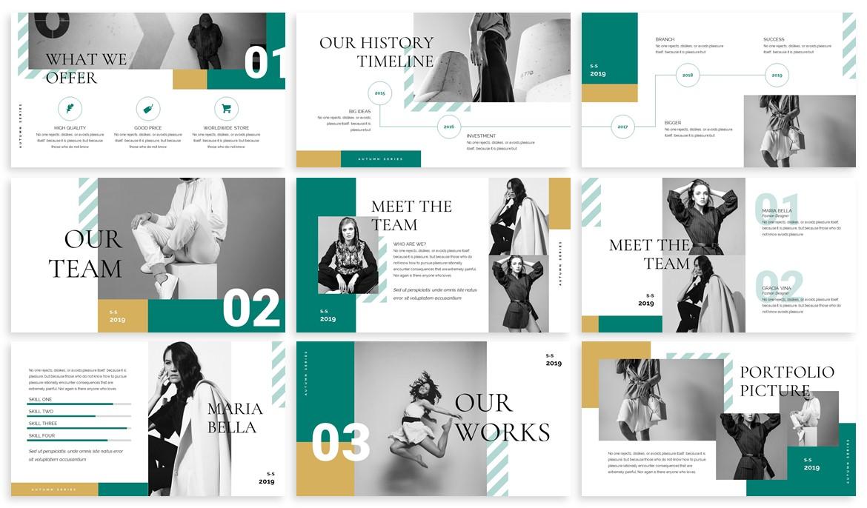 Ushka - Fashion Design Powerpoint Template example image 3