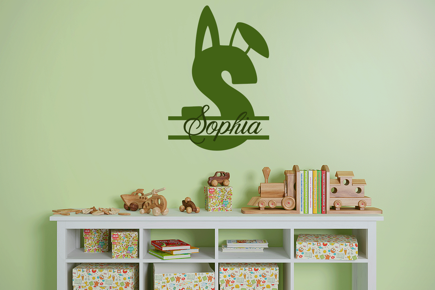 Snuggle Bunny Font Plus Easter Monogram Font and SVG example image 5