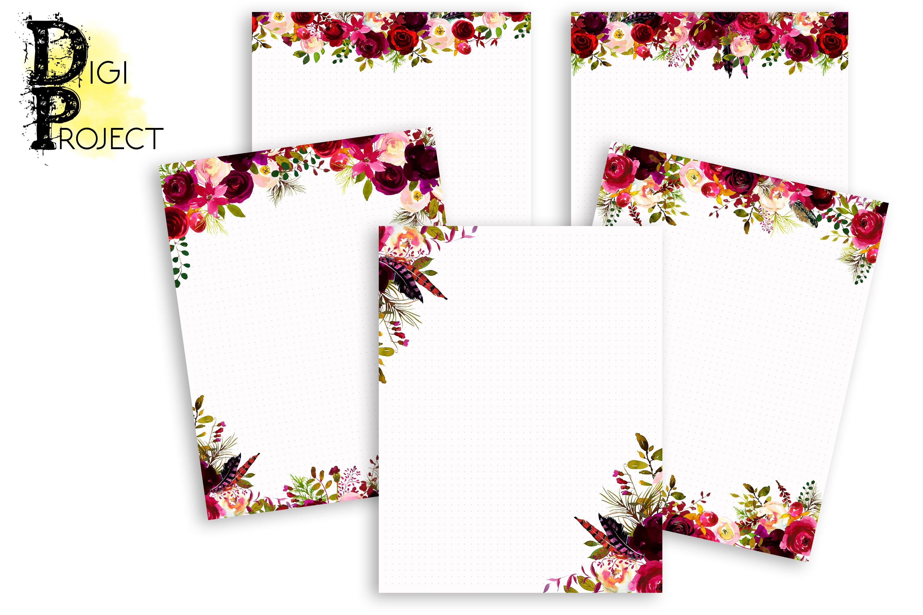 Printable Notes Pages Marsala, Notes Pages example image 1