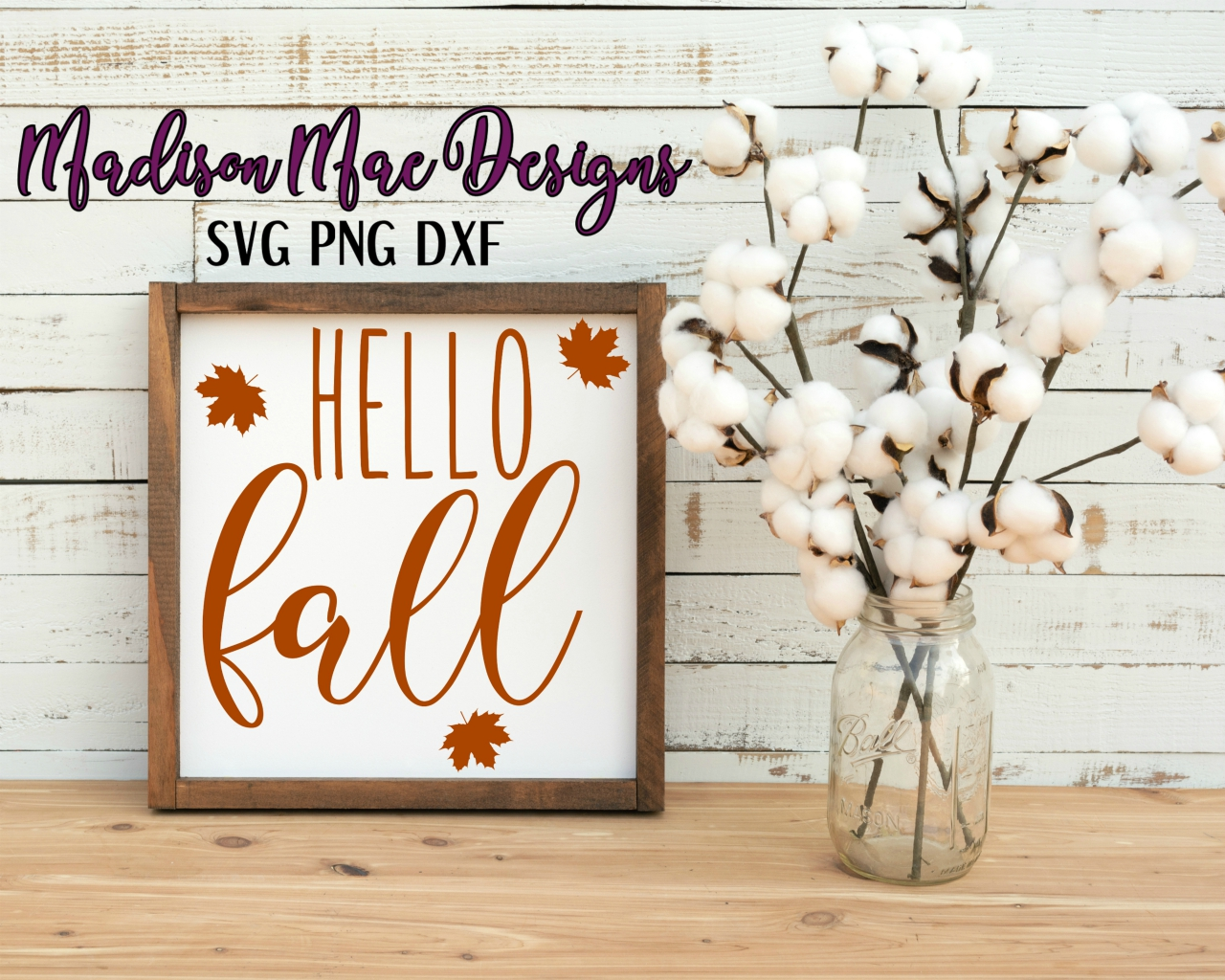 Hello Fall SVG Digital Cut File example image 3
