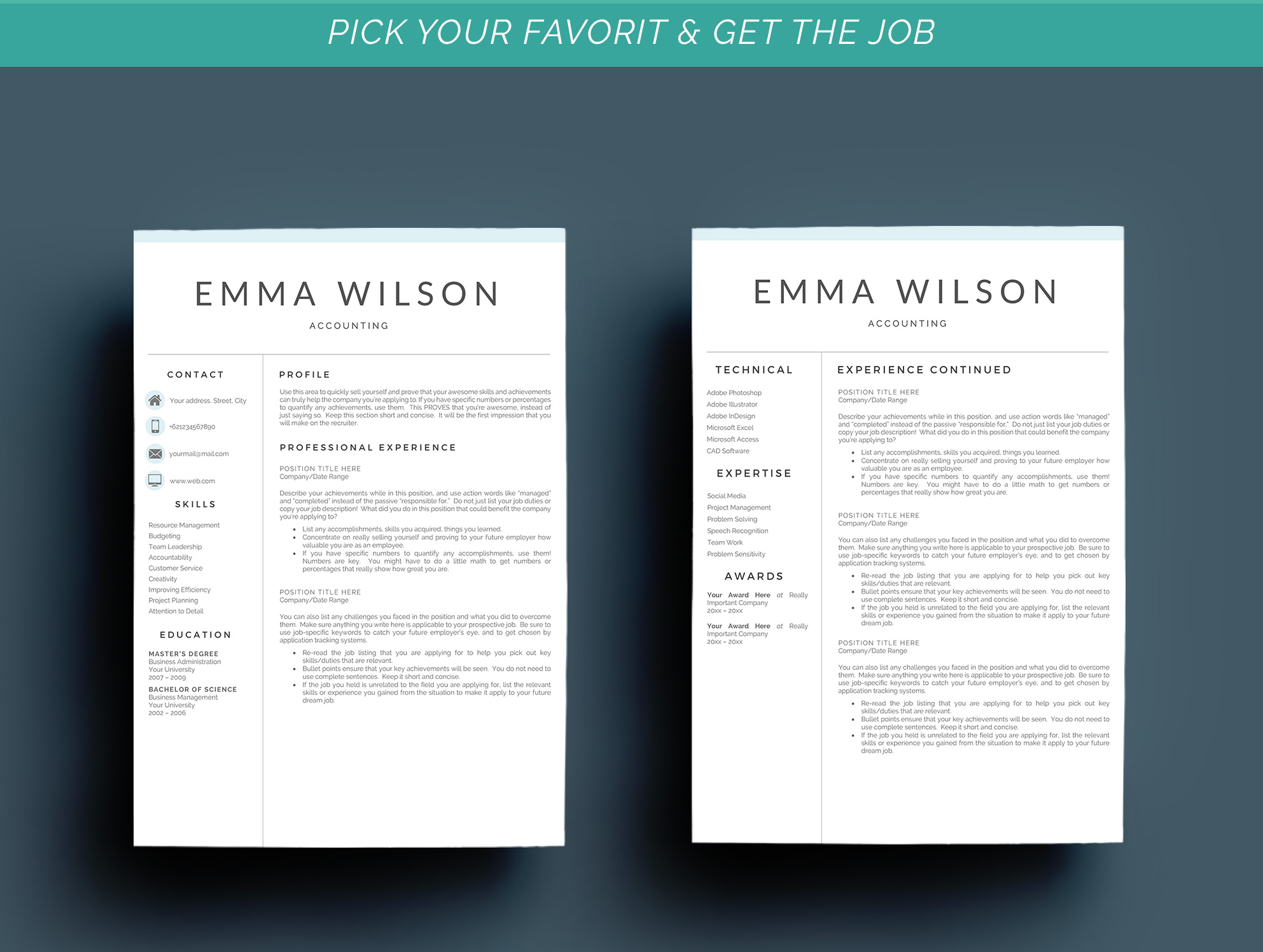 Resume Template 3 Pages example image 5