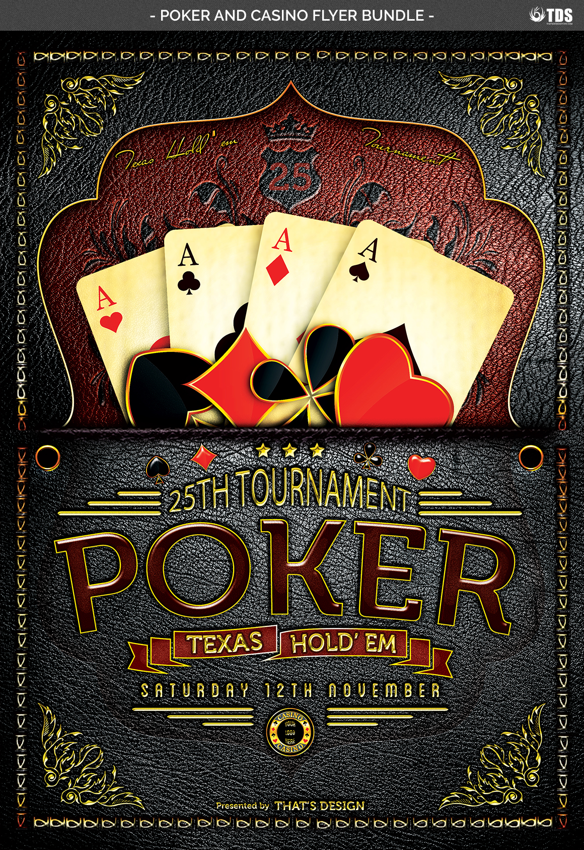 Poker and Casino Flyer Bundle example image 7