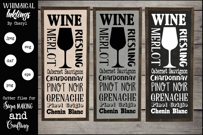 Wine Subway Art SVG example image 1