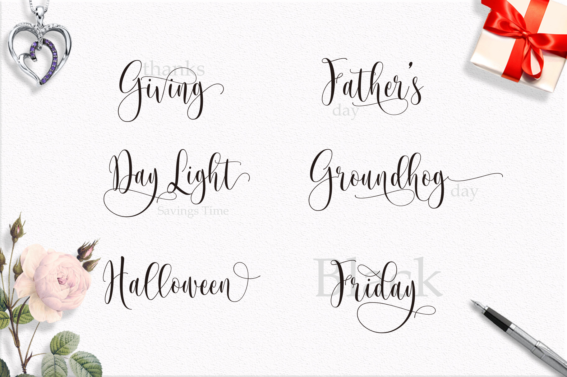 Someday Script Font example image 6