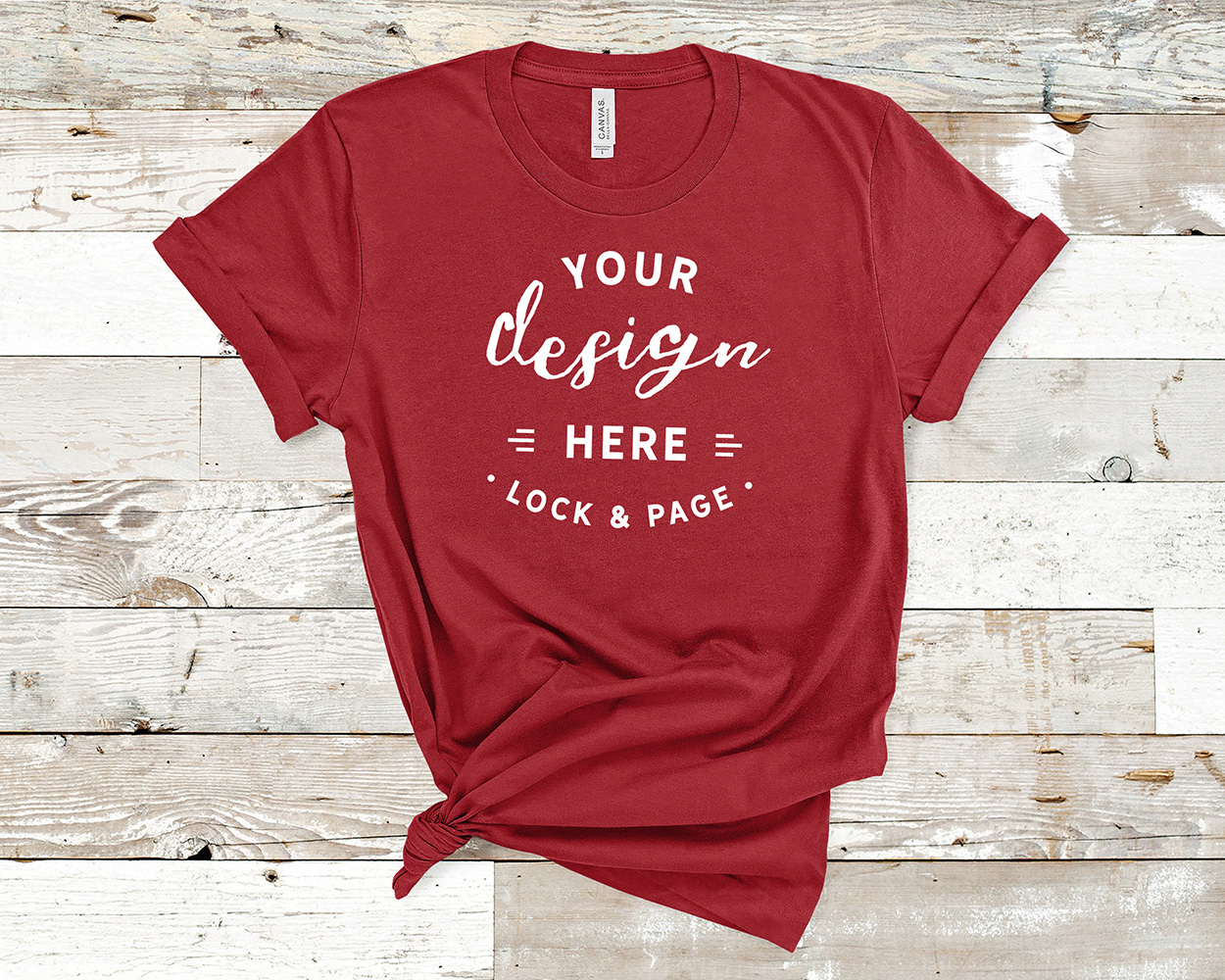 Bella Canvas 3001 Mockup T-Shirt Bundle All Colors On Wood example image 7