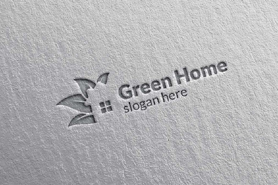 Real estate Logo, Green Home Logo 5 example image 4
