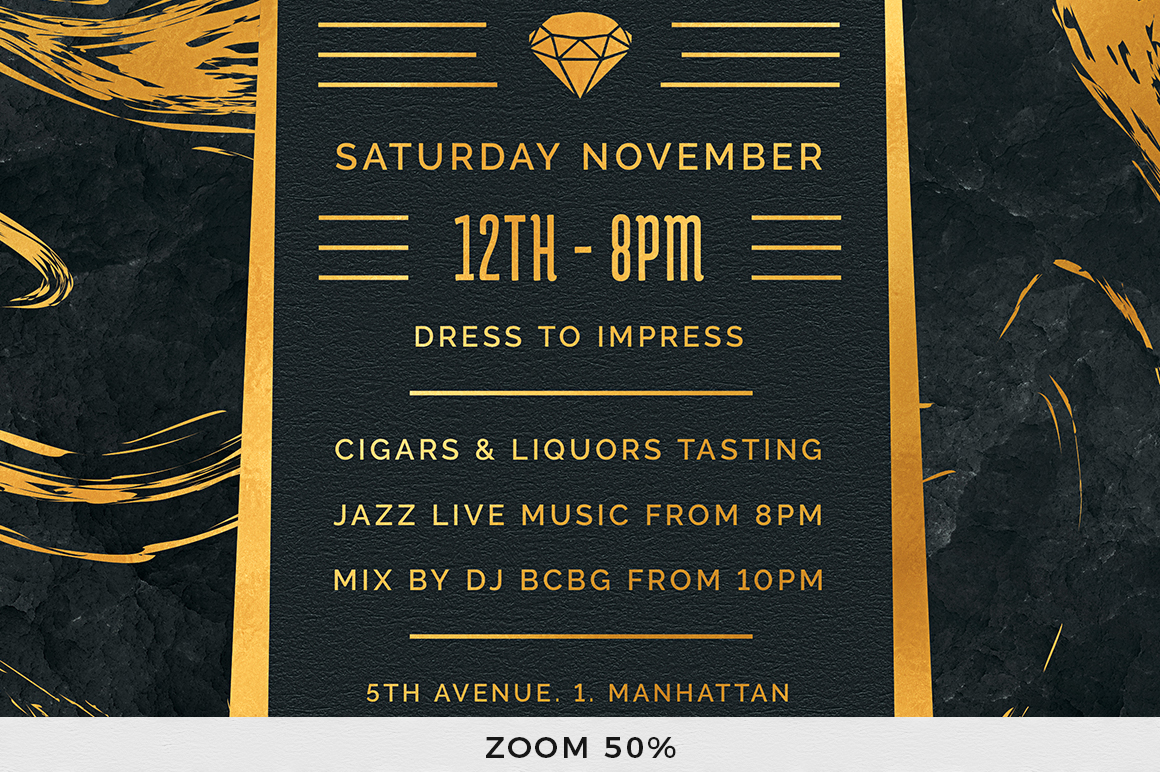 Black and Gold Flyer Template V12 example image 8