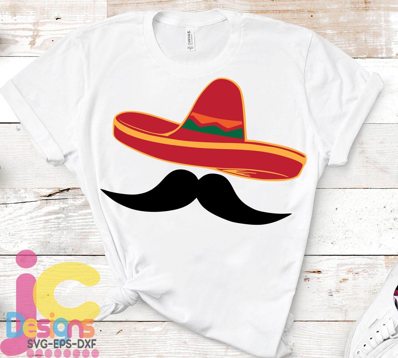 Sombrero Svg Cinco de Mayo Svg Sombrero and Mustache Svg example image 2