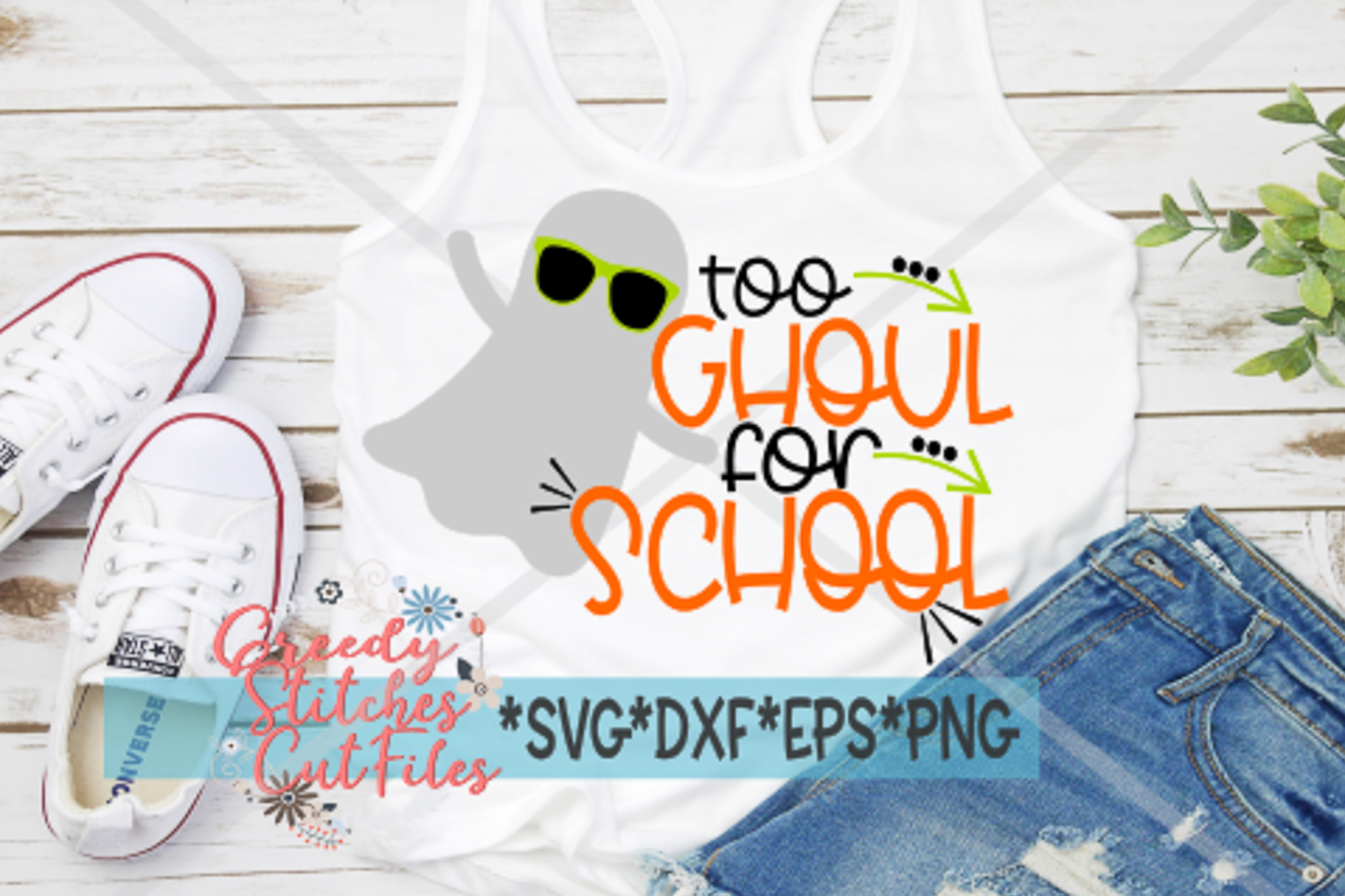 Too Ghoul For School SVG | Halloween SVG example image 1