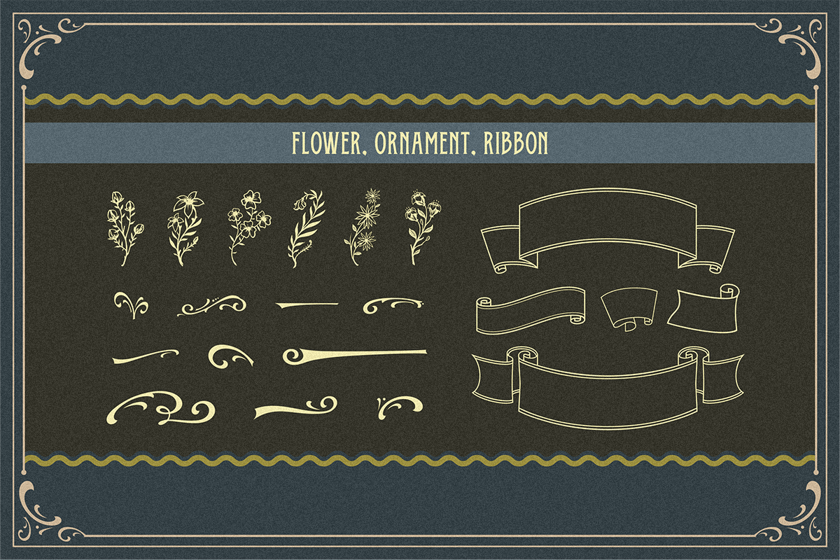 Oldy Beany Font Duo with Extras example image 8